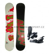 Snowboard set pánský Allian White Out