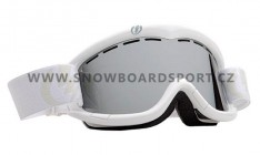 Brýle na snowboard Electric EGK Gloss White Bronze Silver Chrome