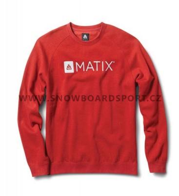 Mikina pánská Matix Monolin Crew Cardinal  de19ebbb17